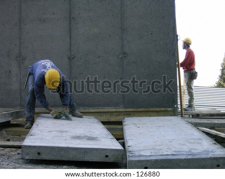 Men working - stock photo