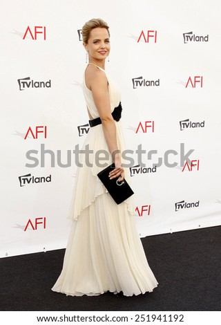 Mena Suvari at the 40th AFI Life Achievement Award Honoring Shirley MacLaine held at the Sony Studios in Los Angeles, United States, 070612.  - stock photo