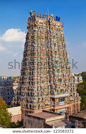 Menakshi Temple, Madurai, Tamil Nadu, India - stock photo