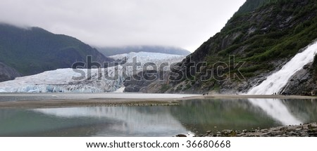 Mendenhall Glacier in Juneau, Alaska - stock photo