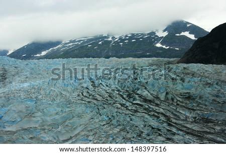 Mendenhall Glacier, Juneau, Alaska, USA - stock photo
