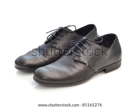 Mens shoes with white background