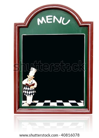menu - stock photo