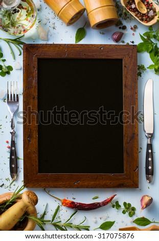 menu background image - stock photo