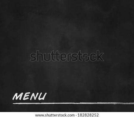 Menu Blackboard - stock photo