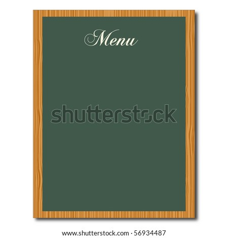 Menu Chalkboard - stock photo