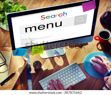 Menu Choice Selection Options Concept - stock photo