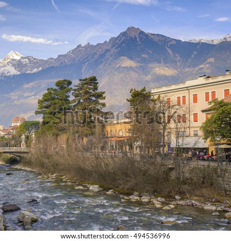 Merano during winter,South Tyrol, Italy
