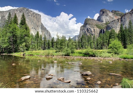 Merced River, Yosemite National Park - stock photo