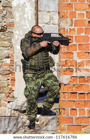 mercenary recurring fire - stock photo