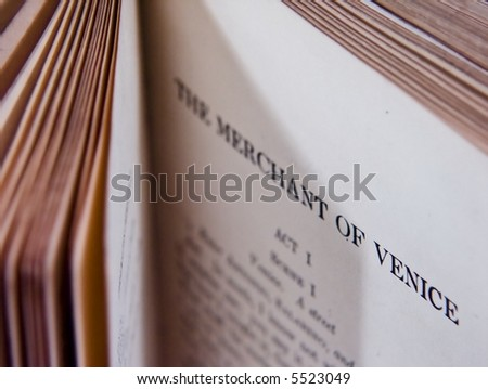 Merchant of Venice Shakespearian Classicc - stock photo