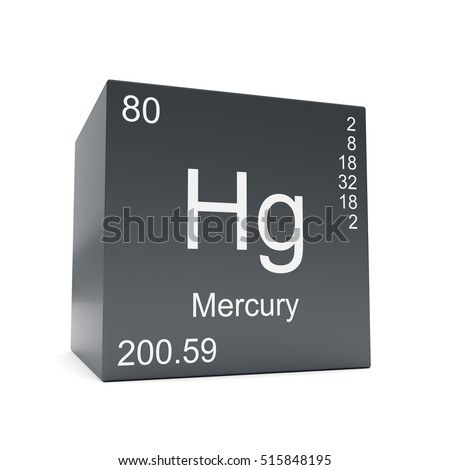 Mercury Chemical Element Symbol Periodic Table Stock Illustration