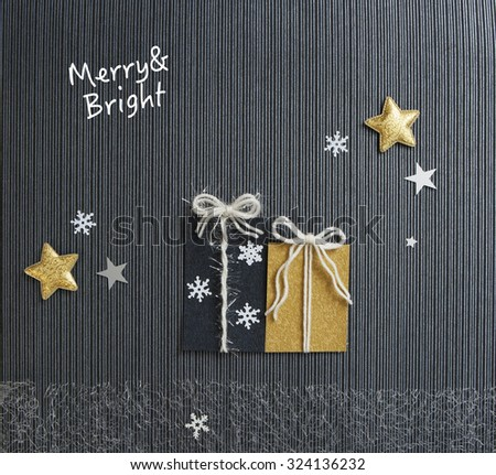 Merry and Bright Holiday - stock photo