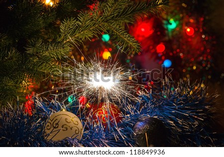Merry Christmas and Happy New 2013  Year - stock photo