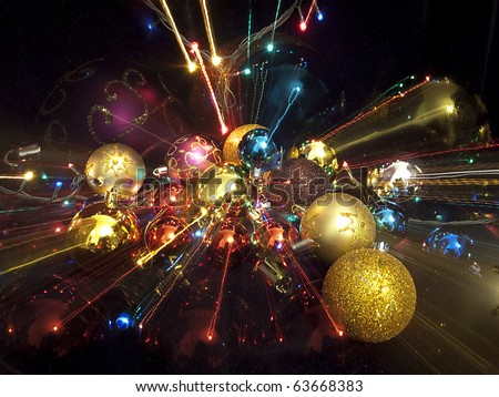 merry christmas and happy new year 2011 - stock photo