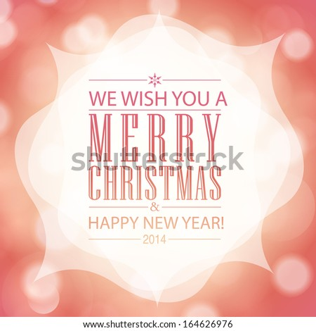 Merry Christmas and Happy New Year card design.  - stock photo