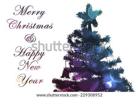 Merry Christmas and Happy New Year card design - stock photo
