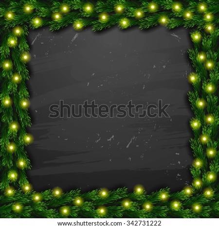 Merry Christmas background - stock photo