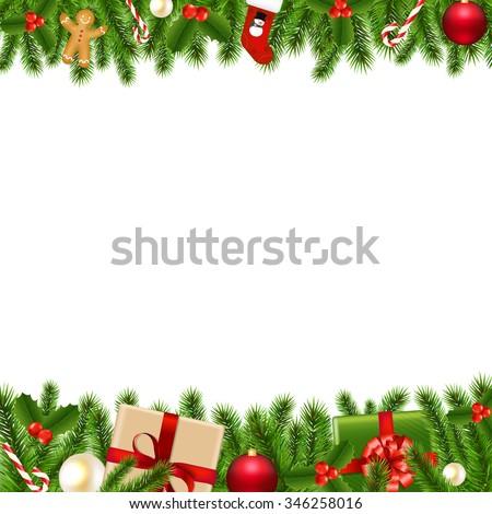 Merry Christmas Borders  - stock photo