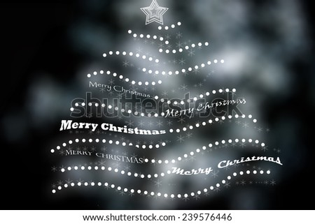 Merry Christmas card - stock photo