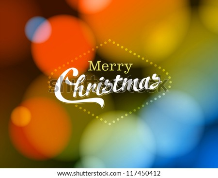 Merry Christmas Card - JPG Version - stock photo