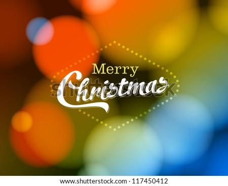 Merry Christmas Card - JPG Version - stock photo