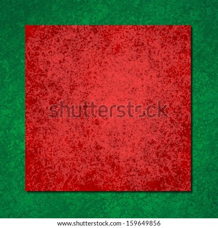 Merry Christmas design background red green color layers of vintage grunge background texture, distressed rough square shape frame border, blank copy space fro text or image for brochure poster cards - stock photo