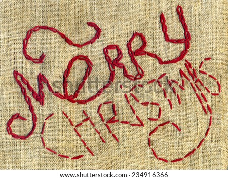 Merry Christmas - embroidery