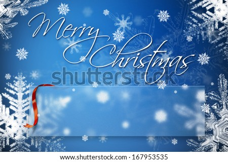 Merry christmas greeting card 2014 empty stock illustration merry christmas greeting card 2014 with empty text box for your greetings and congratulations m4hsunfo