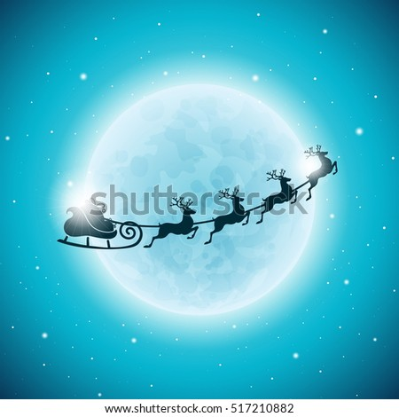 Merry Christmas Holiday and Happy New Year illustration with typographic design and snowflakes on winter landscape background. JPG version.