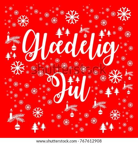 Merry christmas danish stock illustration 767612908 shutterstock merry christmas in danish m4hsunfo