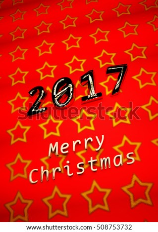 Merry Christmas modern abstract background. 3D render.
