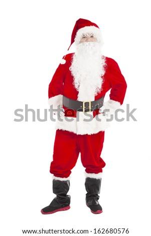 merry Christmas Santa Claus standing - stock photo