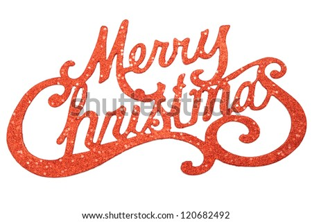 Merry Christmas sign - stock photo