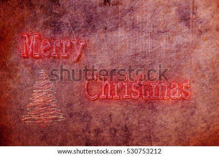 Merry christmas vintage grunge background