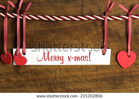 Merry x-mas - stock photo