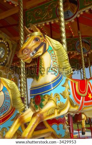 merrygoround horse - stock photo