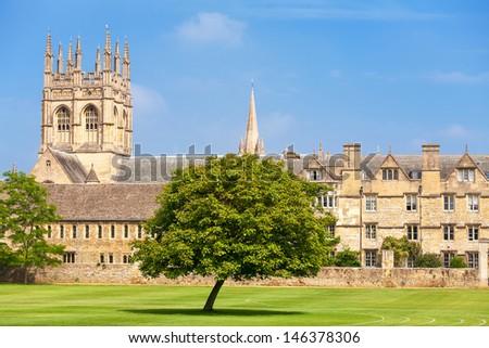 Merton College. Oxford University, Oxford, Oxfordshire, England - stock photo
