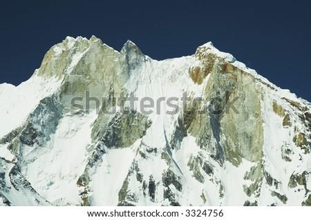 Meru peak in Himalayans mountain - stock photo