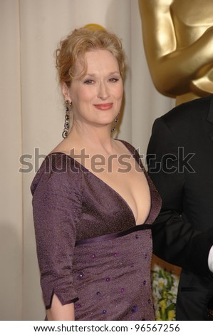 MERYL STREEP at the 78th Annual Academy Awards at the Kodak Theatre in Hollywood. March 5, 2006  Los Angeles, CA  2006 Paul Smith / Featureflash - stock photo