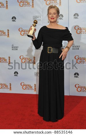 Meryl Streep at the 67th Golden Globe Awards at the Beverly Hilton Hotel. January 17, 2010  Beverly Hills, CA Picture: Paul Smith / Featureflash - stock photo
