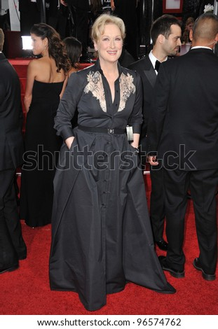 Meryl Streep at the 69th Golden Globe Awards at the Beverly Hilton Hotel. January 15, 2012  Beverly Hills, CA Picture: Paul Smith / Featureflash