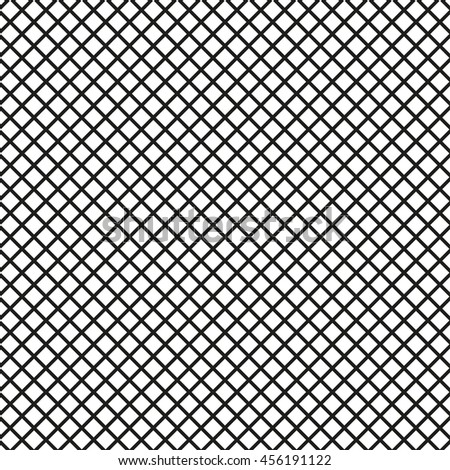 Mesh lines background. Seamless lined grid pattern. - stock photo
