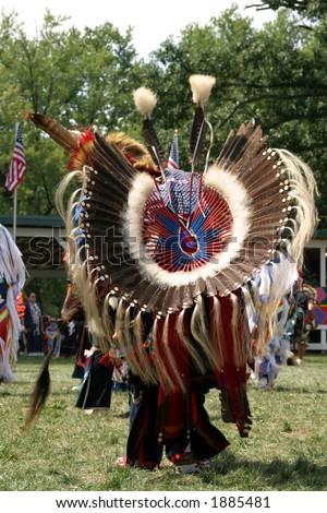 Meskwaki PowWow - Full Regalia - August 2006, Tama, Iowa - stock photo