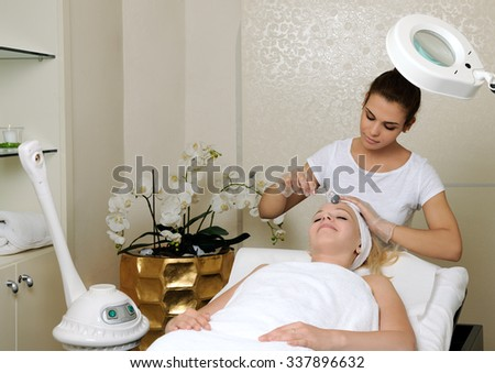 mesotherapy facial treatment - stock photo