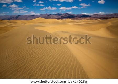 Mesquite Dunes desert in Death Valley National Park California - stock photo