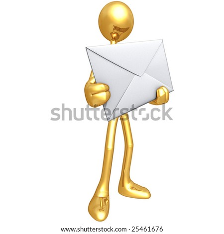 Message - stock photo