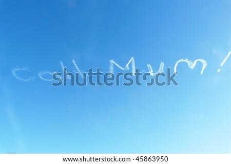 Message in the sky - stock photo