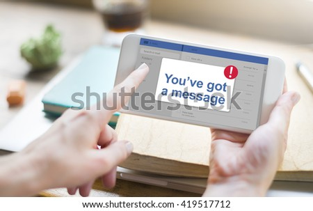 Message Inbox Notification Icon Concept - stock photo