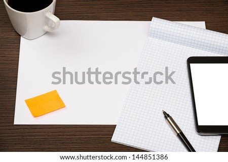 Message on a Office Desk - stock photo